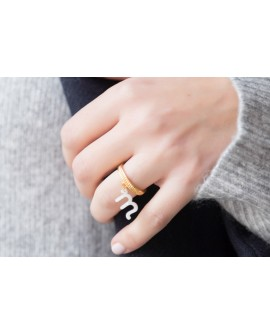 Anillo inicial nacar Little Things