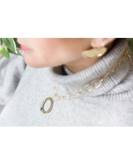 Collar aro machacado strass