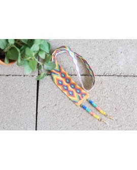 Cuelga gafas discos de colores y cinta étnica+COLORES
