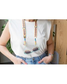 Cuelga gafas amarillo discos de colores +COLORES