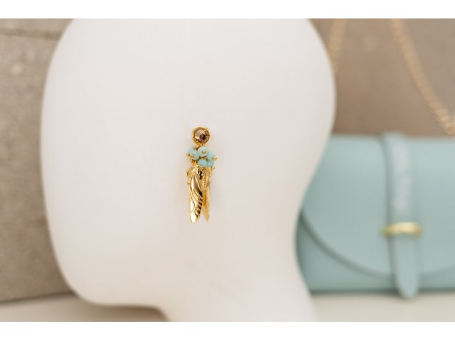 Pendiente strass insecto